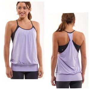 Lululemon No Limit Tank Purple Gray